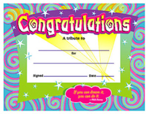 Colorful Certificate