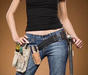 Woman with her Tool Belt